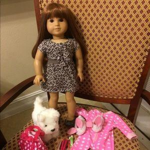 American Girl doll dog pajamas accessories set